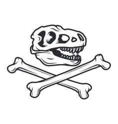 Prehistory dino Logo concept T-rex insignia vector image