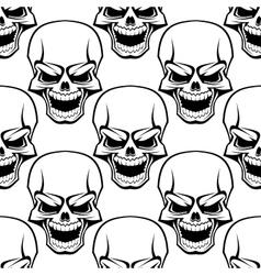 Skull seamless background pattern vector image