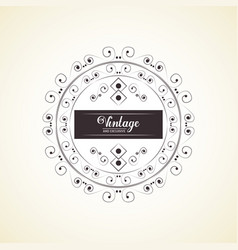Vintage and exclusive decoration classic element vector