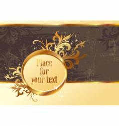 vintage gold frame for text vector image vector image