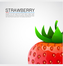 fresh realistic strawberry background vector image vector image