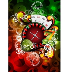 gambling roulette wheel vector image