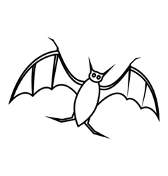 Bat icon outline style vector