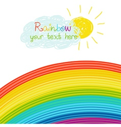 Bright rainbow vector