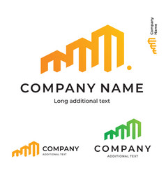 business building construction modern logo bright vector image