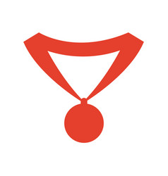 pictogram medal trophy winner sport icon vector image