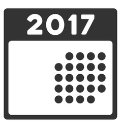 2017 Month Calendar Flat Icon vector image
