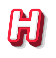 3d bold funny letter h heavy type for modern vector