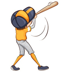 A drawing of a baseball player vector image