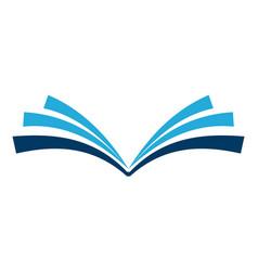 abstract book logo icon vector image
