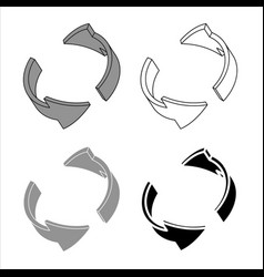 abstract rotation arrows 3d design elements vector image