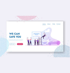 Accident insurance website landing page agent vector