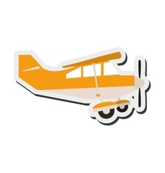 Aerobatic or trainer airplane icon vector