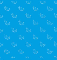 angel wing pattern seamless blue vector image