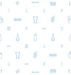 Beer icons pattern seamless white background vector