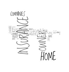 best home owner insurance quote text word cloud vector image