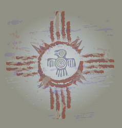 big sun tambourine vector image