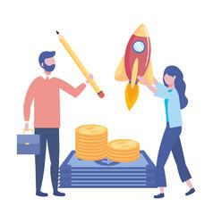 businessman and businesswoman design vector image