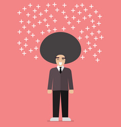 businessman thinking positive vector image