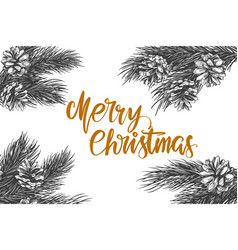 christmas wreath calligraphy lettering text symbol vector image