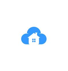 Cloud house realty logo vector
