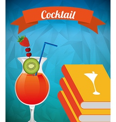 Cocktail recipe book vector