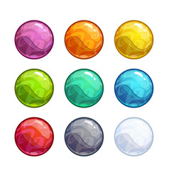 Colorful bright bubbles set vector