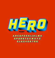 Comics style font design vector