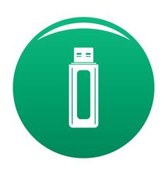 computer equipment icon green vector image
