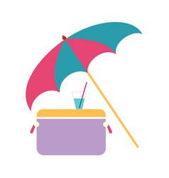concept sea vacation umbrella refrigerator and vector image