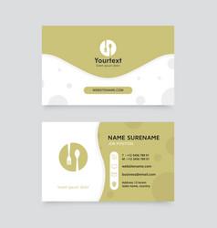 creative business card design vector image