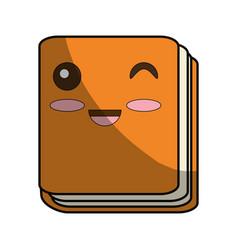 cute book cartoon vector image