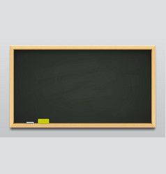 dark green school blackboard or empty classboard vector image