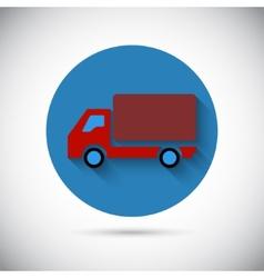 Delivery van car falt icon vector image