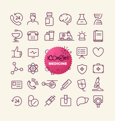 Different trendy outline icons collection web vector