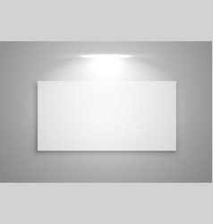 Display gallery frame with focus light background vector