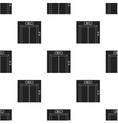 Elevator icon in black style isolated on white vector