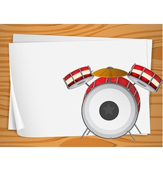 Empty bondpapers with drums vector