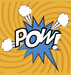 Expression bubble with pow pop art style vector