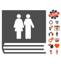 Family album icon with lovely bonus vector