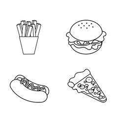 figure fast food background icon vector image