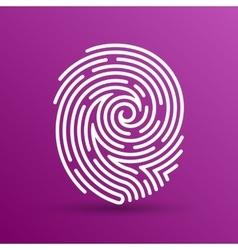 Fingerprint icon finger print id theft vector