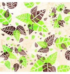 Floral Leaves Background vector image vector image