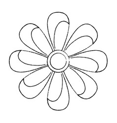 flower topview icon image vector image