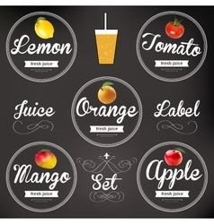 Fruit juice Detailed label set vector