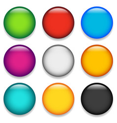 glossy colorful circle sphere orb icons with vector image