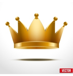 Gold classic Crown vector