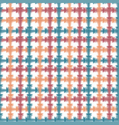 hand drawn seamless pattern with crossing painted vector image