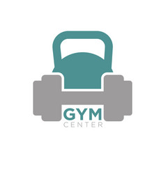 Heavy dumbbell and big kettlebell isolated on vector