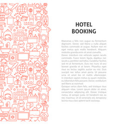 hotel booking line pattern concept vector image